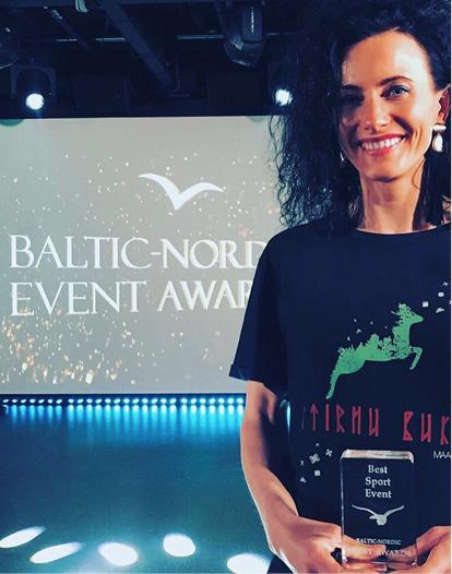 """SAŅEMOT BALVU BALTIC/ NORDIC EVENT AWARDS - """"BEST SPORT EVENT, 2018"""" TALLINĀ, 2019.GADA APRĪLĪ"""