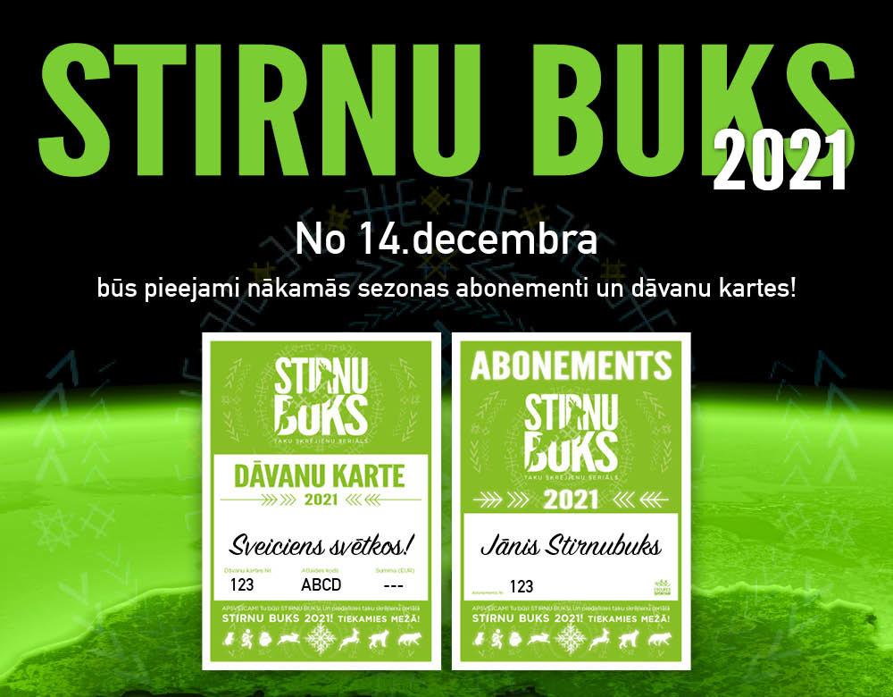 Stirnubuks.lv - Pieejami 2021.gada sezonas abonementi un dāvanu kartes